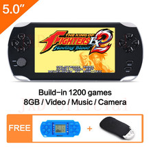 5.0 Inch Big Screen Handheld game player Built-in 1200+ no-repeat Games New Video Game Console MP3/4 for Kids Educational Toy(China)
