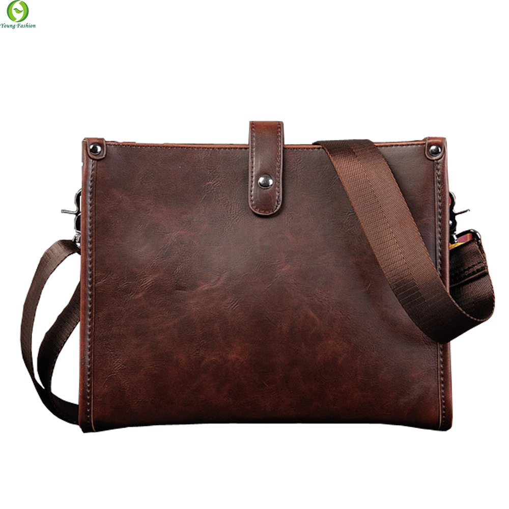 Fashion leather Men messenger bags casual Mens travel bags Man shoulder Laptop bag Black Blue Waterproof clutch Satchel<br><br>Aliexpress