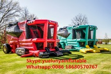 2016 Factory direct sales Inflatable slides,Inflatable castle.truck Bouncer.Red Harvester Castle Slide KY-205