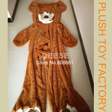340cm Bigest Giant Teddy Bear Skin Plush Toys Coat Without PP Cotton Valentine's Day Gift Light Brown, Dark Brown