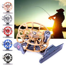 OOTDTY Full Metal Ultra-light Former Ice Fishing Reels Wheel Fly Fishing Reel Aluminum(China)
