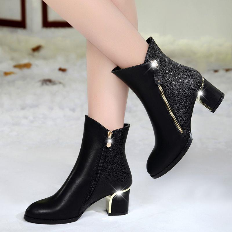 Women boots 2016 Women Shoes Winter Shoes Ankle winter Boots shoes woman High Heels<br><br>Aliexpress
