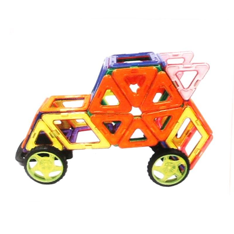 twinklecat 35 pcsset diy magnetic building blocks toy educational enlighten bricks diy racing car model kids toys