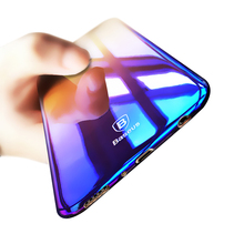 Baseus Hard Gradient Plastic Case For Samsung Galaxy S8 Case Samsung S8 Plus Luxury Plating Blue Ray Light PC Phone Cover Coque(China)