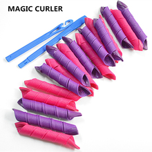 Hot  sell 18pcs/lot  long  30cm  diameter 2.5cm plastic hair curler /easy  use  spiral curls styling  tools DIY hair style tool