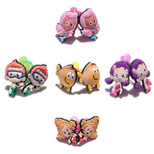 2pcs/pair Bubble Guppies Hair Rubber Band for Kid Cartoon Figure Elastic Hair Rope Hair Band Ponytail Holder Hair Accessories(China)