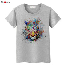 BGtomato Hot sale!! colorful king lion art T-shirts women super cool tees creative 3D shirts Original brand clothes casual tops