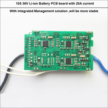 High quality  36V 10S  42V  li ion 18650 or Lipo  battery PCB  of  ebike battery with 20A constant current