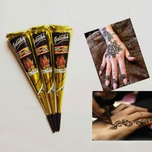 High Quality Natural 25g India Henna Temporary Tattoo Black Ink for Body Drawing Paint Free Shipping(China)