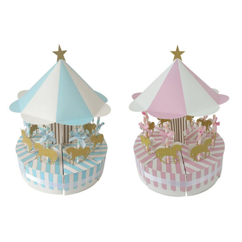 Unique Carousel Candy Box for Party Gift Birthday Favours Decoration Party Decor