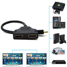 Cheap 30cm 1080P HDMI Port Male To 2 Female 1 In 2 Out Splitter Cable Adapter Converter High Quality Hdmi Male To Female Kable