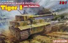 Dragon model 6406 Pz.Kpfw.VI Ausf.E Tiger I Late Production plastic model kit(China)