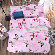 Home Textiles Cotton 4pcs Bedding Set Bedclothes include Duvet Cover Bed Sheet Set Children Kids Bedding Bed Linen(China)