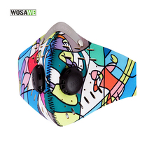 WOSAWE Training Mask Activated Charcoal Filter Cycling Face Mask Face Shield Sport Dust Mask Bike/Bicycle Windproof Anti-fog 50