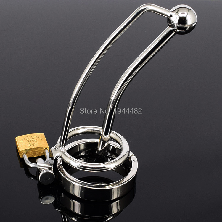 Sex Toys Male Chastity Belt Urethral Sound Penis Ring Stainless Steel Cock Cage Device Penis Plug Urethral Catheter