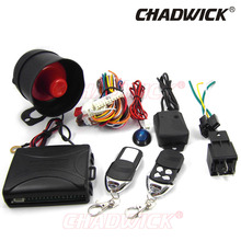 NEW Universal 1-Way Vehicle car alarm system auto door Keyless Entry Siren 2 Remote Control central door locking 8138 CHADWICK(China)