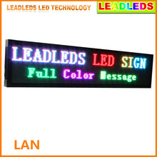 P10 32*160pixel Outdoor Led Display Screen , Full Color text LED Sign waterproof Board size:168x40x9cm