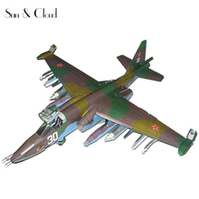 1:33 3D Belarus Sukhoi Su-25 Fighter Plane Aircraft Paper Model Assemble Hand Work Puzzle Game DIY Kids Toy