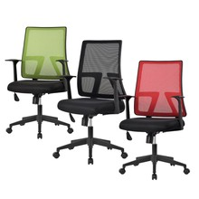 LANGRIA Office Chair Mid-Back Swivel Mesh Task Adjustable Office Boss Lift Chairs with Synchro-Tilt Computer Seat(China)