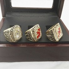 Wholesale Promotion For Hockey High Quality 3pcs 1995/2000/2003 New Jersey Devils Championship Ring with Wooden Boxes(China)