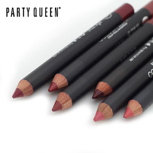 1 pcs Multicolor Party Queen Lip Liner Pencil Functional Eyebrow Eye Lip Makeup Waterproof Colorful Cosmetic Lipliner Pen(China)