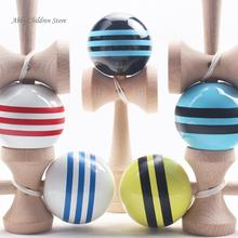 Abbyfrank Striped Kendama Colorful Painted Traditional Wooden Toy Ball Skillful Game Juggling Ball Gift for Children Adult(China)