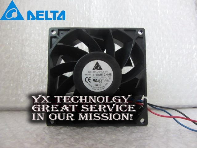 New dual ball bearing cooling fan FFB0912HHE-F00 9CM 9038 12V 0.53A 3line Delta<br>