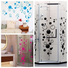 Black/hot pink/blue Bubble Wall sticker Wallpaper wall decals washroom Decoration
