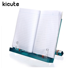 Kicute Adjustable Portable Document Plastic Book Stand Holder Reading Frame Desk Holder Tilt Bookstand Office School Supply(China)