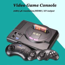 16Bit 4K HD Output Dual System Hard Decoding Video Game Console Support SEGA Black MD MD2 Game Card(China)