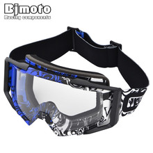 BJMOTO 2018 Outdoor Sport Motocross Goggles ATV Dirt Bike motorcycle Off Road Racing Goggles Moto Cross(China)