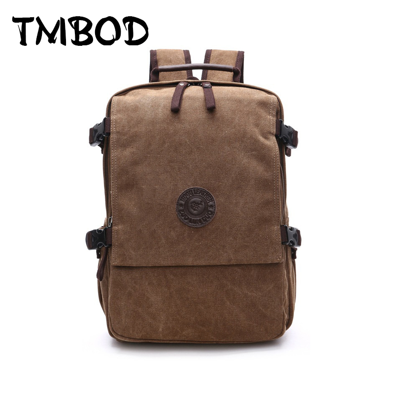 New 2018 Men Casual Canvas Military Mountaineer String Backpack Travel School Bag Large Capacity Backpacks Shoulder Bags an935<br>