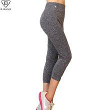 B.BANG 2017 Women Sport Pants Yoga Workout Fitness Sports Leggings for Women and Girl Elastic Legging Yoga Trousers Pants S/M/L(China)