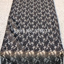 10 pieces Black  Lace Table Runner Wedding Decoration - FREE SHIPPING