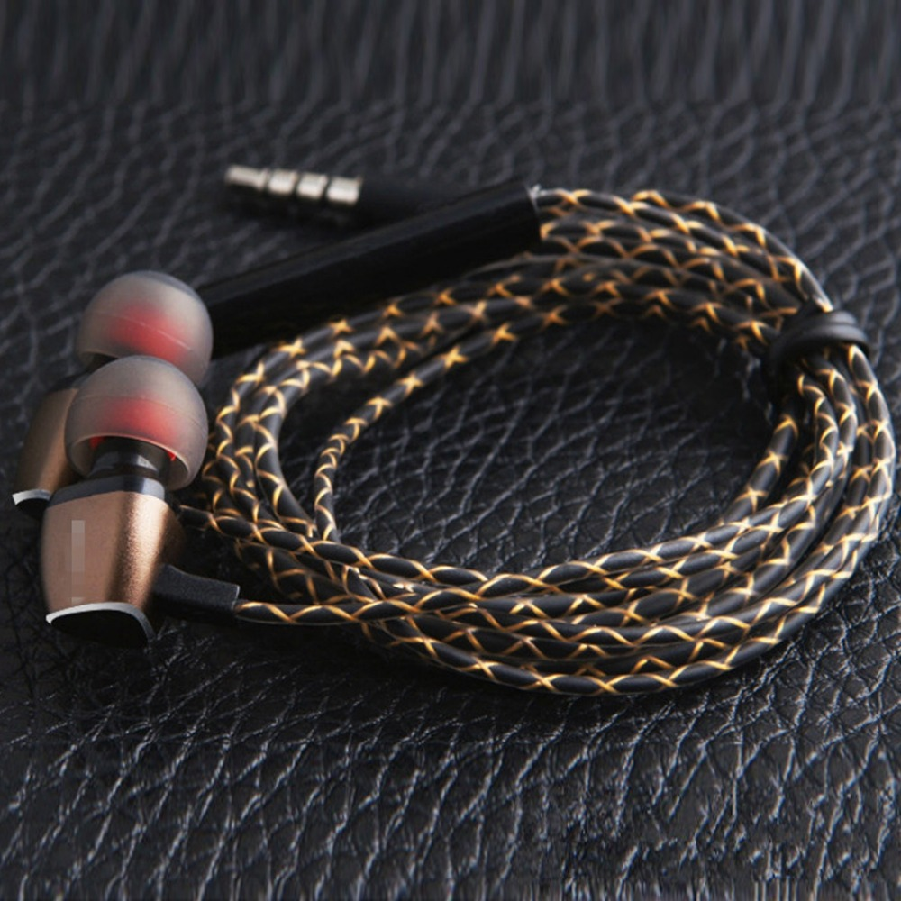 DIY Earphone Audio Cable Snakeskin wire Semi-finished serpentine cables with Mic for mobile phone (15)
