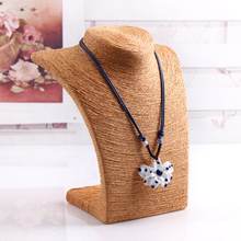 Fashion Necklace Stand Display Shelf Jewelry Chain Pendant Holder Rack Jewelry Bust Neck Necklaces Display Rack Wholesale Price