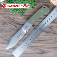 58-60HRC Ganzo G7472 440C G10 Wood Handle Folding knife Survival Camping tool Hunting Pocket Knife tactical edc outdoor tool