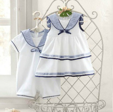 2015 newborn Navy infant rompers summer style 100% cotton new designer toddler clothing white kids costume menina roupas recem