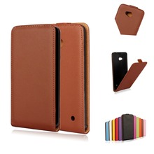 640 High Quality Vertical Plastic Cover Cow Split Magnetic Genuine Leather Case For Microsoft Nokia Lumia 640 1109 Phone Cases