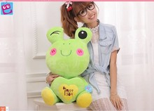 Stuffed animal 45cm lovely frog plush toy love you frog doll throw pillow gift w3770(China)