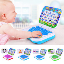 English Language Learning Machine Kid Laptop Toy Computer Toy Alphabet Pronunciation Educational Toys For Children Drop Shipping(China)