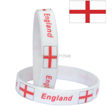 300pcs flag England White wristband silicone bracelets free shipping by FEDEX