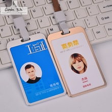 2016 High Quality Aluminum-magnesium Alloy Card Holder Card Id Holders Case Business Badge Card Holder Company&office Supplies