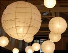 "Upscale 10""(25cm)White Chinese Paper Lanterns With LED Lights Hanging Ornament For Wedding Party Decoration Supplies"