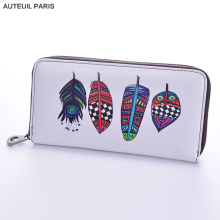 AUTEUIL PARIS 2017 Women Wallet Fashion Slim Wallet Cartoon Printing Money Clip Ladies Leather Wallets 9 Colors High Quality(China)