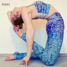 Buy TCJULY 2018 Fashion Fish Scale Printed Legins Women High Waist Elastic Skinny Workout Leggings Slim Push Pants Mermaid Legins for $10.57 in AliExpress store