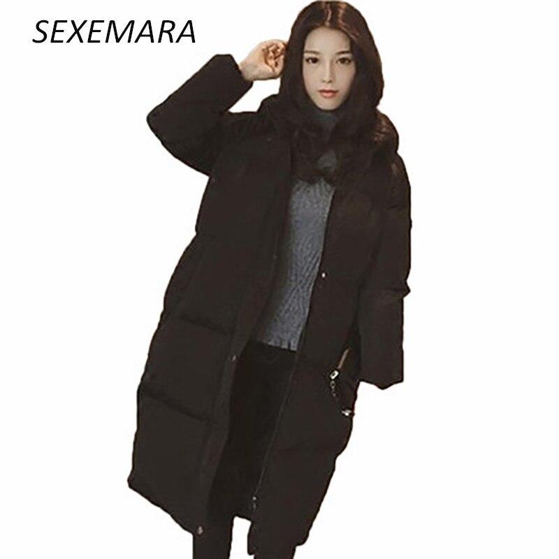 Winter clothes 2017 winter womens cotton jacket fashion zipper long coat thick Loose large size jacket LU068Îäåæäà è àêñåññóàðû<br><br>