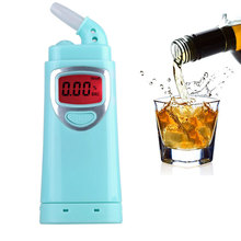 Professional Digital Breath Alcohol Tester LCD Display High Precision Breathalyzer Backlit with Audible Alert