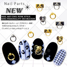 10pcs/lot popular design nail art cool ox nose punk style ring personality decor(China)