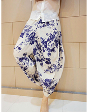 Summer dimensional cut flower loose fashion mens linen pants men hot pants mens 1 baggy pants cargo casual trousers